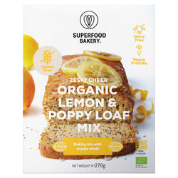 Mix Sem Glúten Bolo Semente Papoila Bio 270g - Superfood Bakery