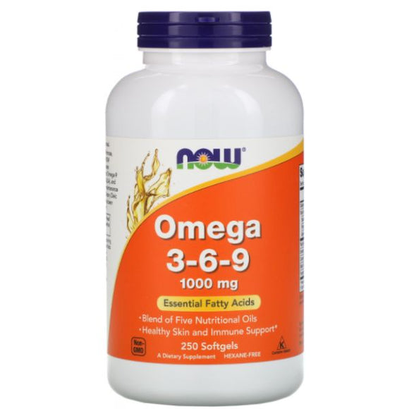 NOW Omega 3-6-9 1000mg 100 cápsulas