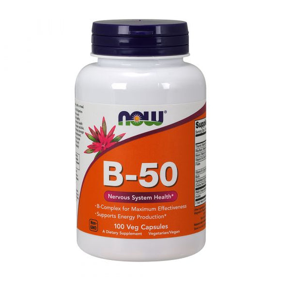 NOW Vitamin B-50 100 cápsulas vegetais
