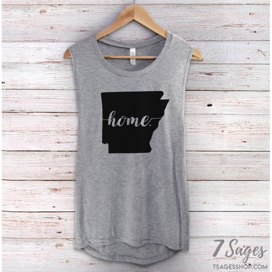 Arkansas Home Muscle Tank Top