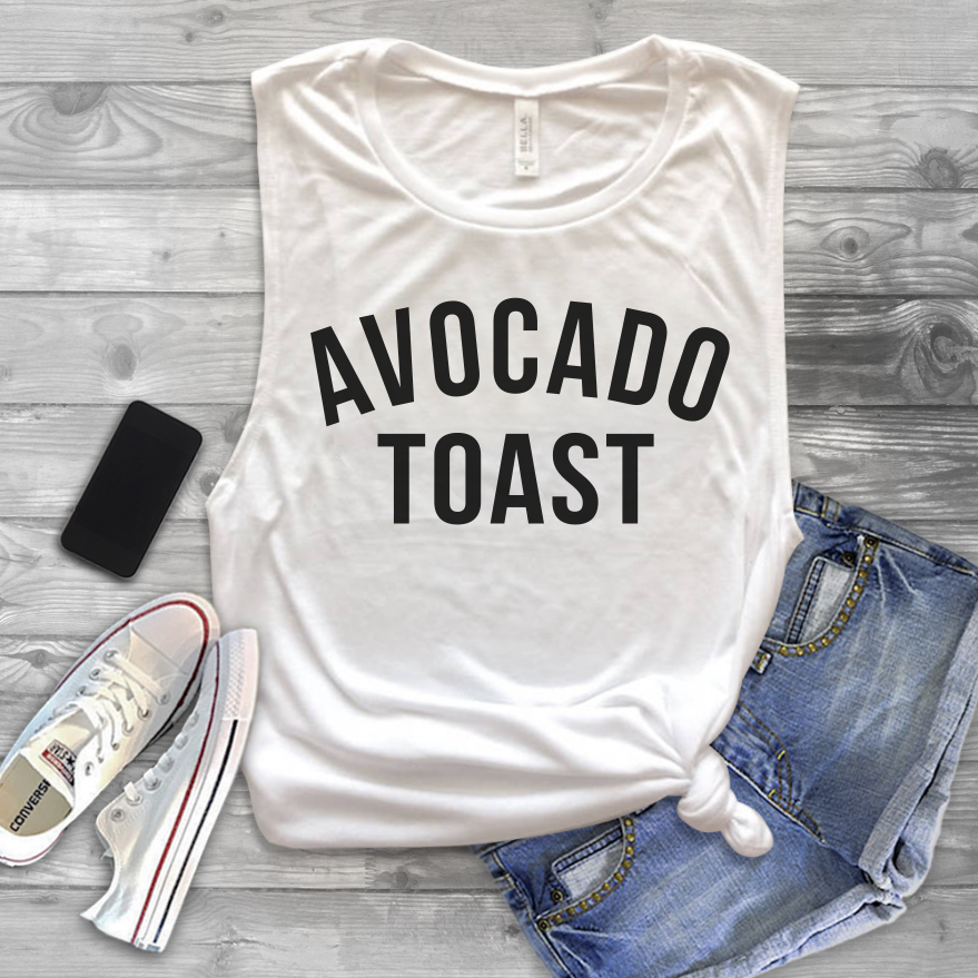 Avocado Toast Muscle Tank Top