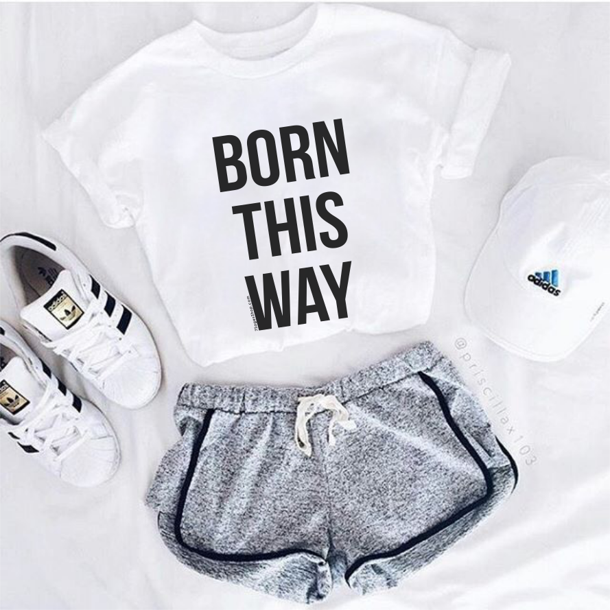 Born This Way Shirt - S / White T-Shirt