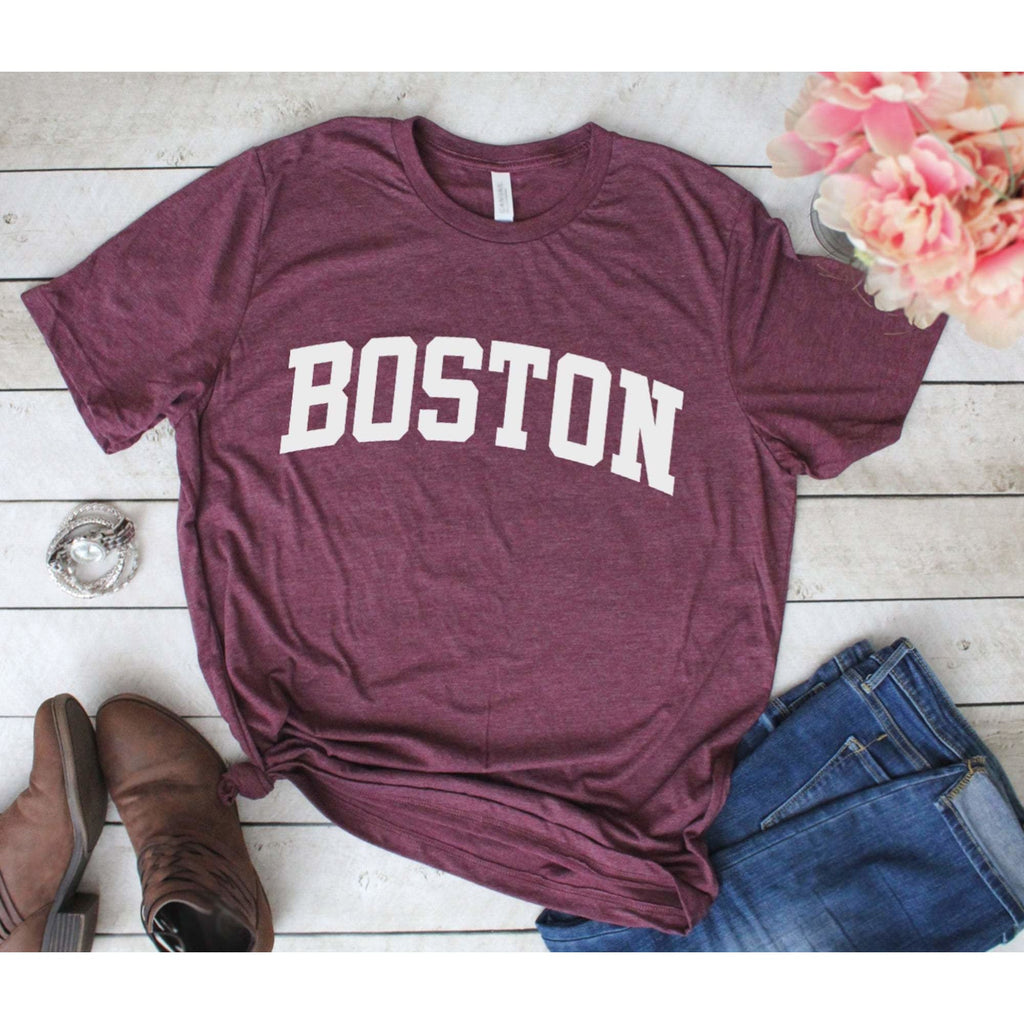 Boston T- Shirt - Heather Maroon / XS - Shirt