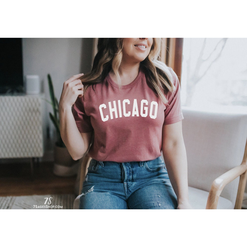 Chicago T-Shirt - Heather Maroon / XS - Shirt