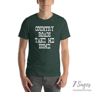 Country Roads Take Me Home T-Shirt - Heather Forest / S