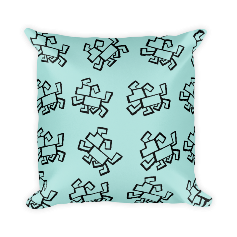 Dog Pattern Print Throw Pillow