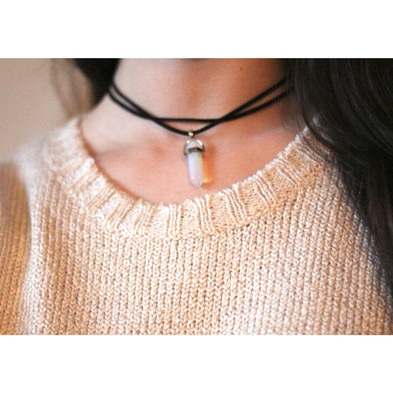 Double Wrap Crystal Choker Necklace