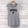 Engaged AF / Drunk AF Bachelorette Party Muscle Tank Tops