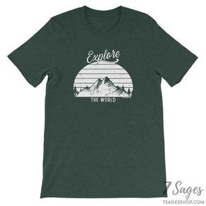 Explore the World T-Shirt - Heather Forest / S