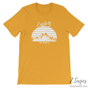Explore the World T-Shirt - Mustard / S
