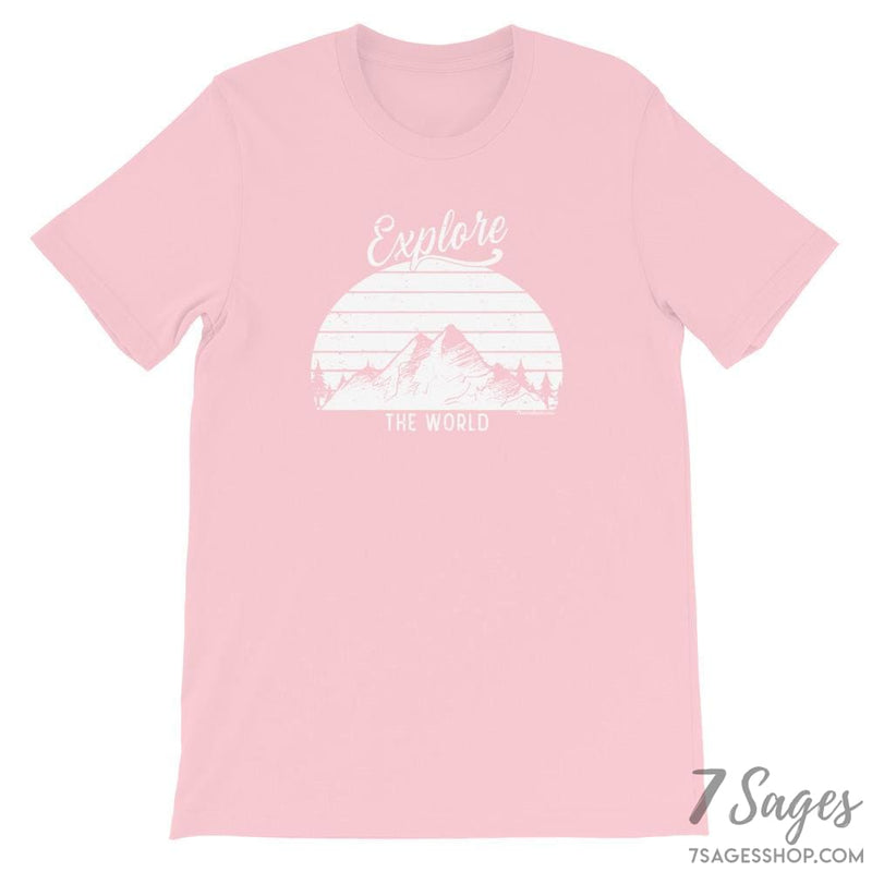 Explore the World T-Shirt - Pink / S