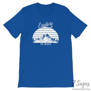 Explore the World T-Shirt - True Royal / S