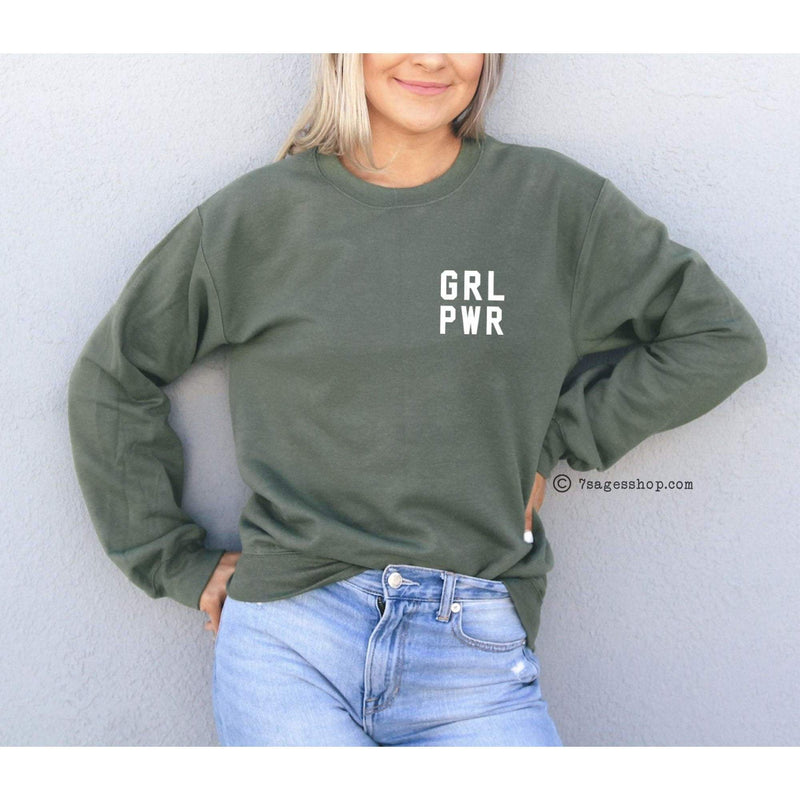 Girl Power Sweatshirt - Feminist Sweatshirt - Grl Pwr - Girl Power Shirt - Feminist Shirt - Sweatshirt
