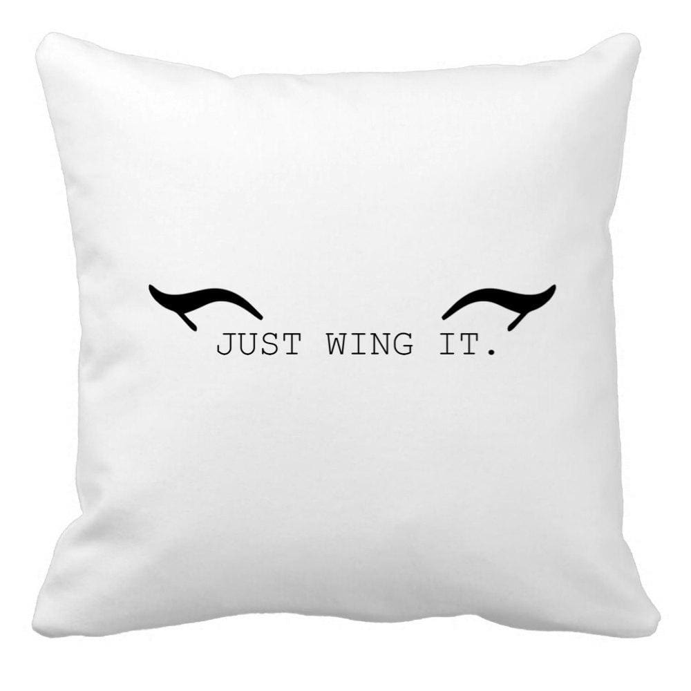 Just Wing It Throw Pillow