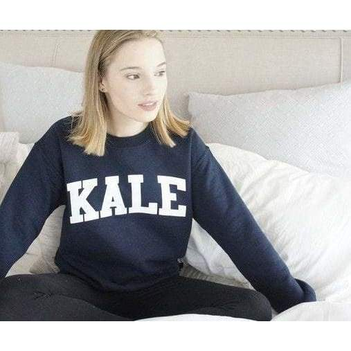 Kale Sweatshirt - Kale Sweater - Kale University - Vegan Sweatshirt - Kale Shirt - Funny Sweatshirt - Pullover - Navy Blue Sweatshirt
