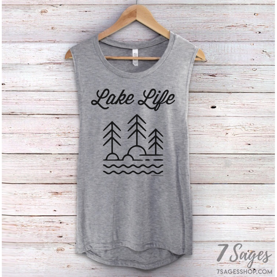 Lake Life Muscle Tank Top