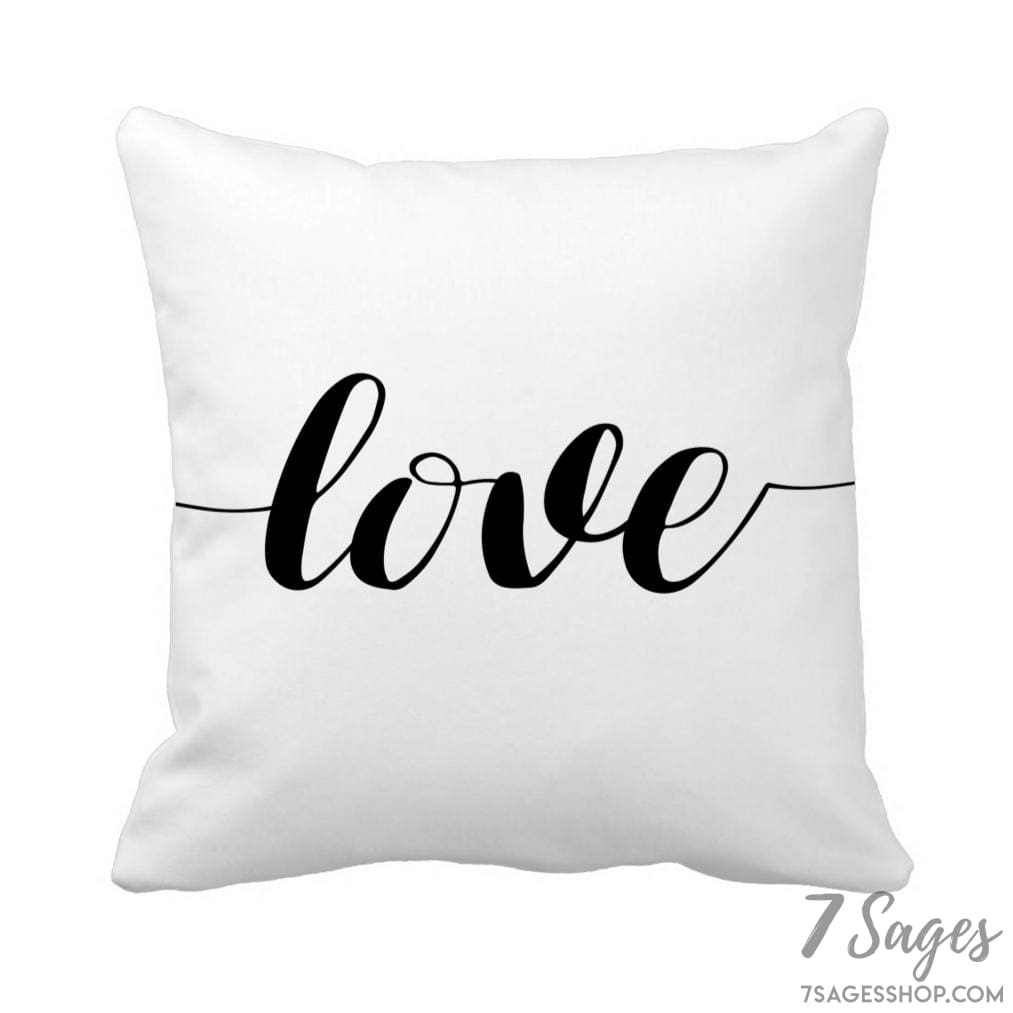 Love Script Throw Pillow