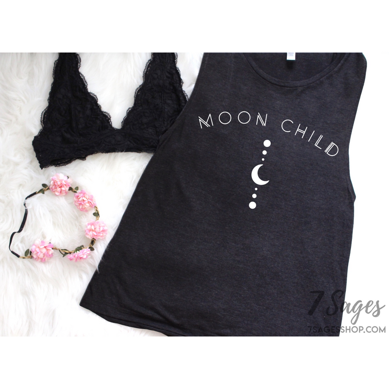 Moon Child Muscle Tank Top