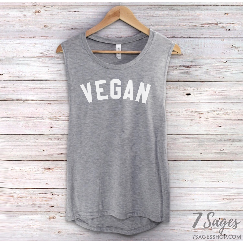 Organic Vegan Muscle Tank Top