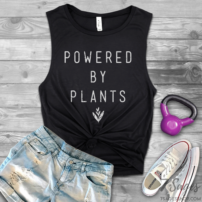 Powered by Plants Muscle Tank Top - Black / S