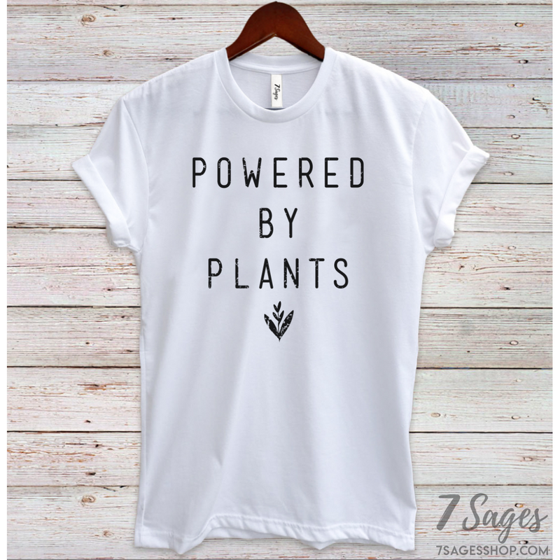 Powered By Plants T-Shirt - Organic / S / White