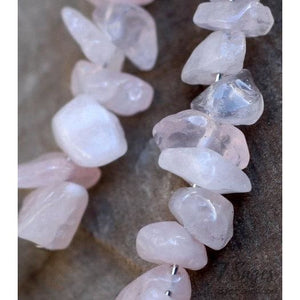 Rose Quartz Crystal Earrings