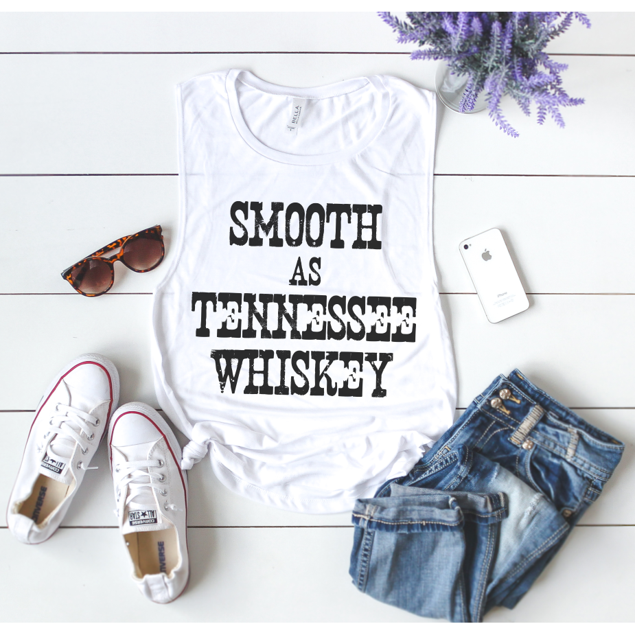 Smooth As Tennessee Whiskey Muscle Tank Top