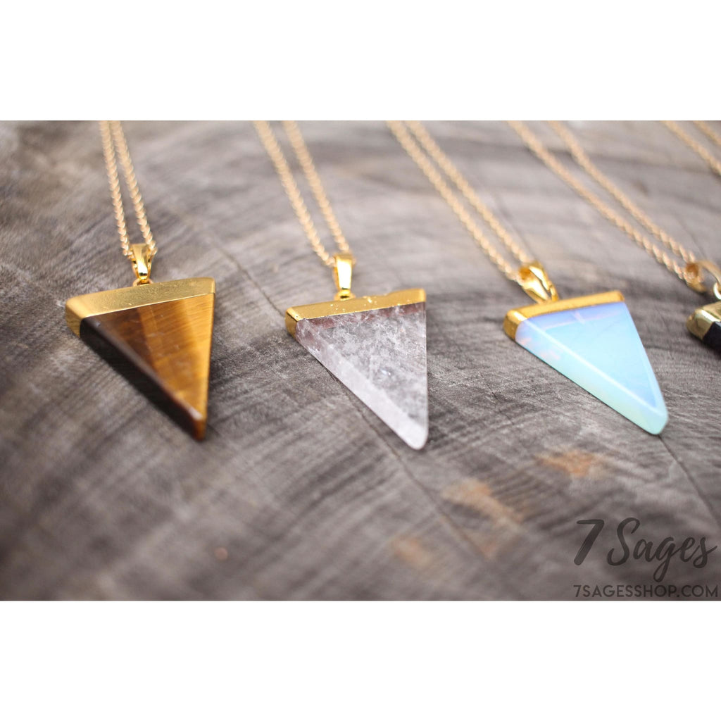 Triangle Crystal Necklace