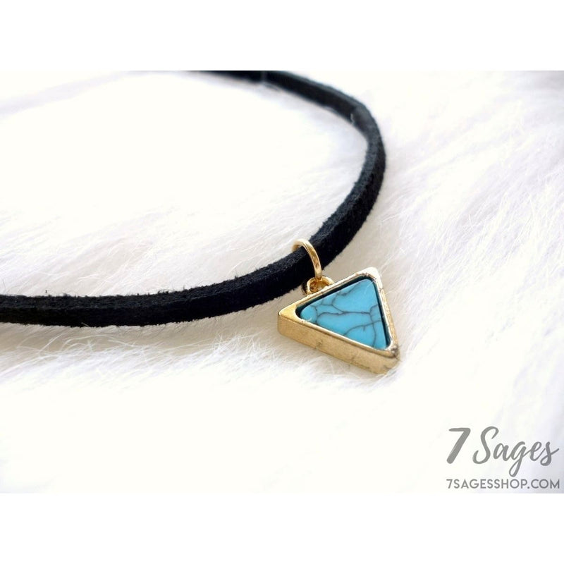 Triangle Marble Choker Necklace