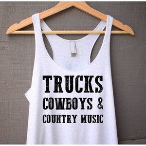 Trucks Cowboys and Country Music Tank Top