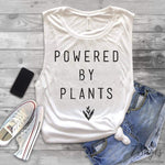 Vegan Vibes and Powered by Plants Muscle Tank Top Set - Vegan Vibes Tank Top - Powered by Plants Tank Top - Muscle Tank Tops - Vegan Tanks