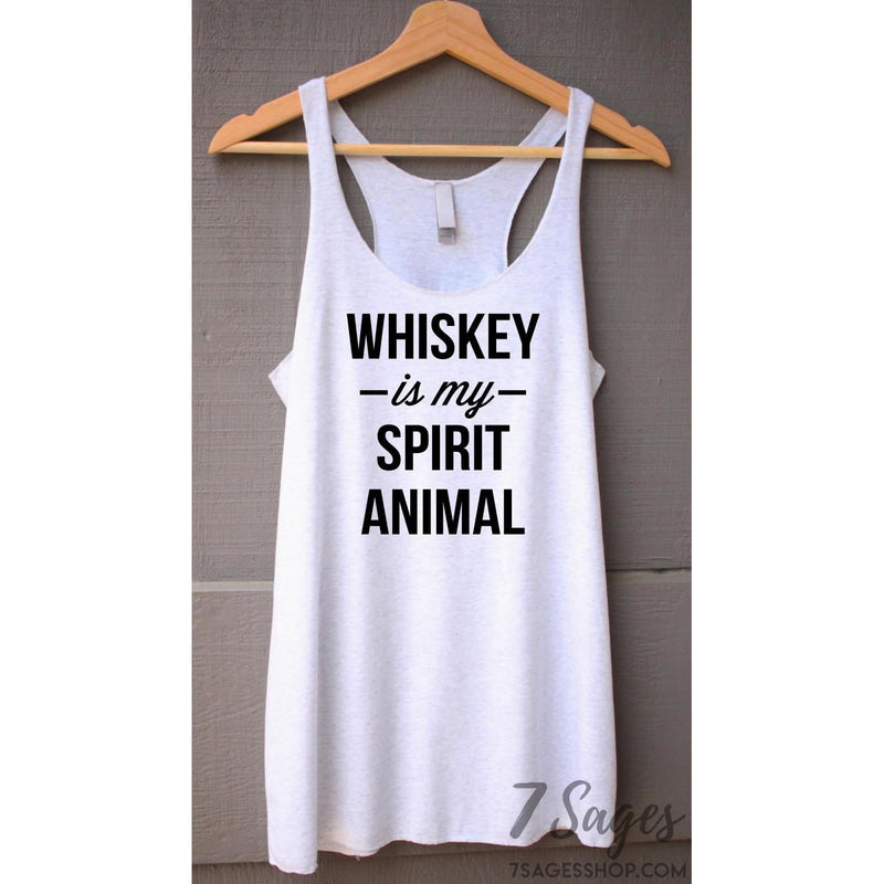 Whiskey Is My Spirit Animal Tank Top