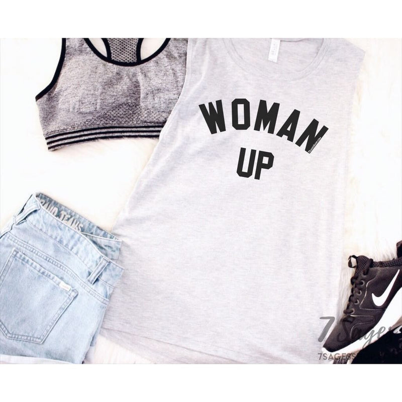 Woman Up Muscle Tank Top - Tank