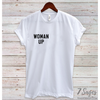 Woman Up Pocket T-Shirt - S / White
