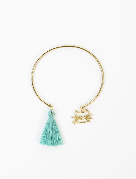 Kitty Charm Bangle