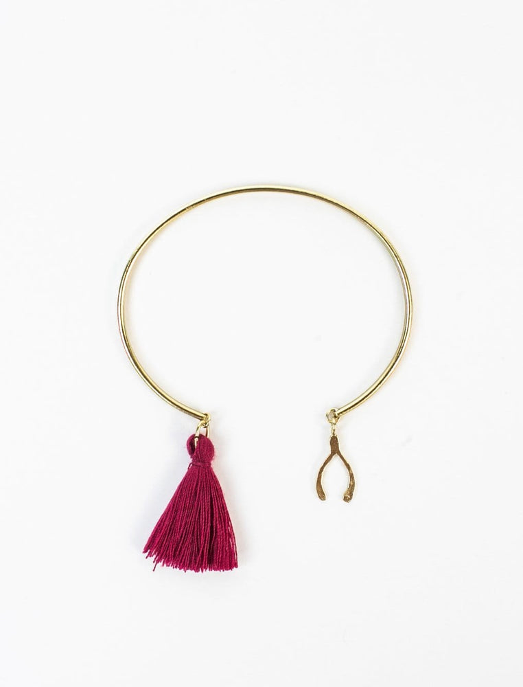 Wishbone Charm Bangle