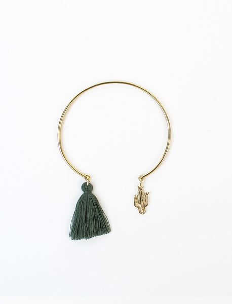 Cactus Charm Bangle