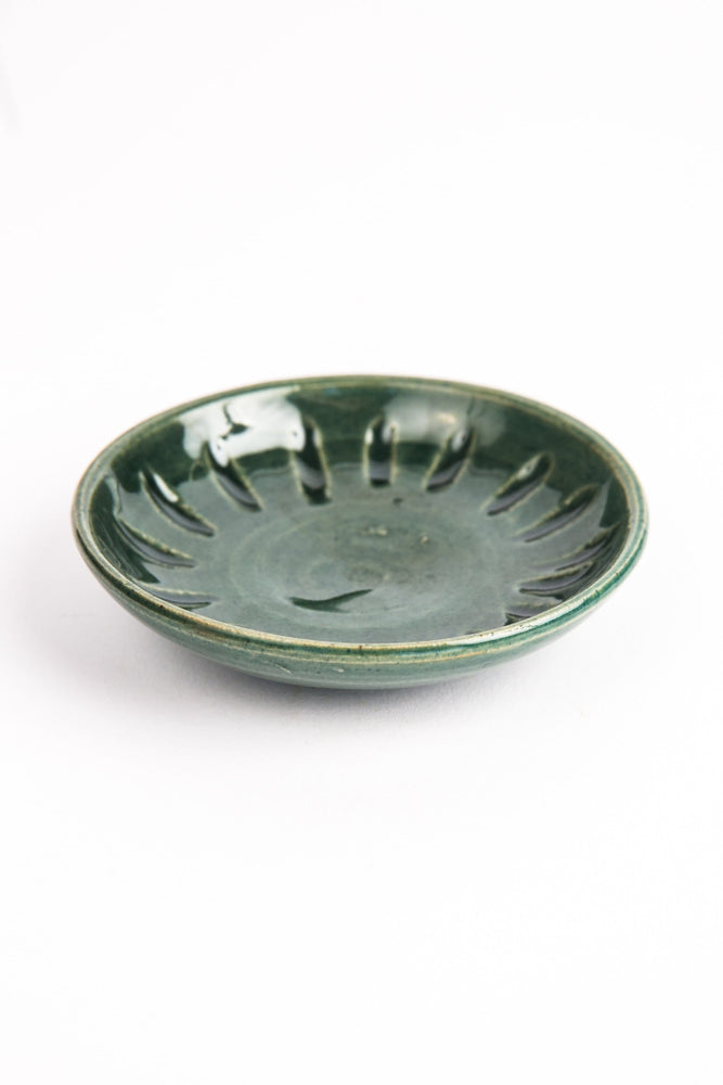 Ceramic Forest Green Ring Dish
