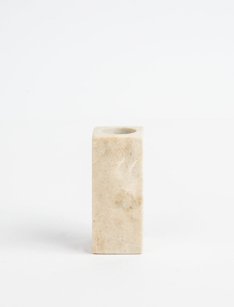 Marble Candlestick Natural - Short