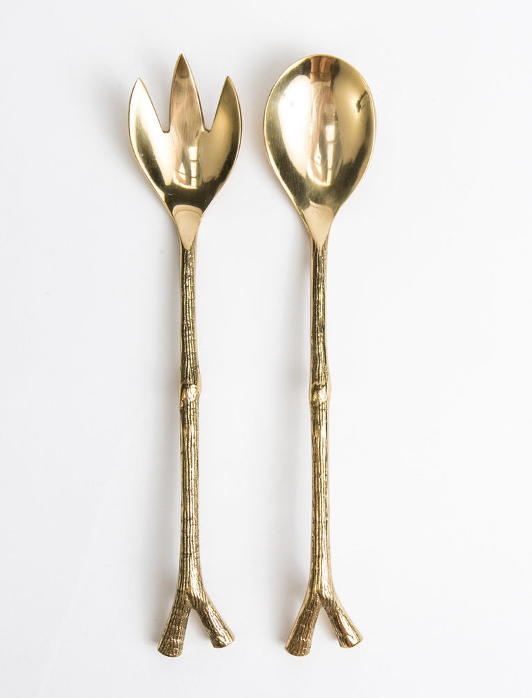 Brass Twig Serving Set