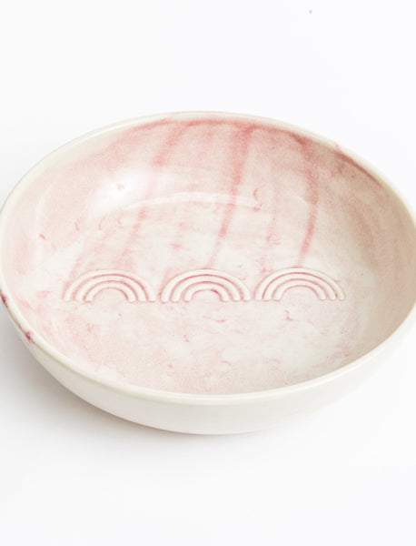 Deco Serving Bowl - Pink Watercolor