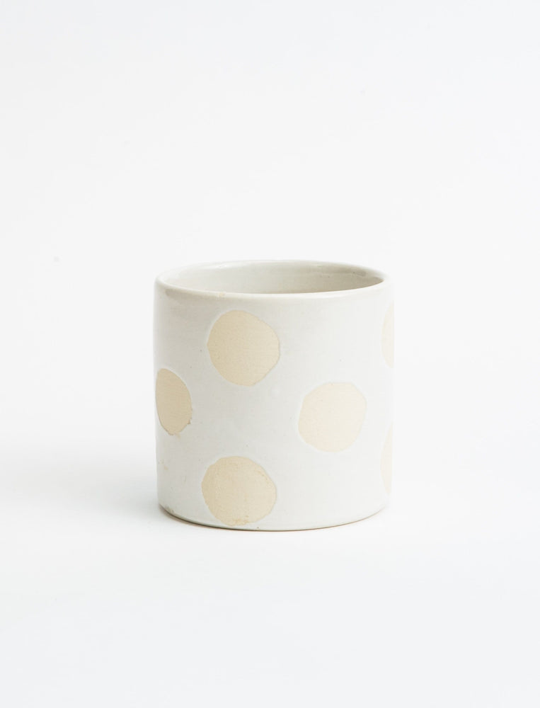 Polka Dot No-Handle Mug
