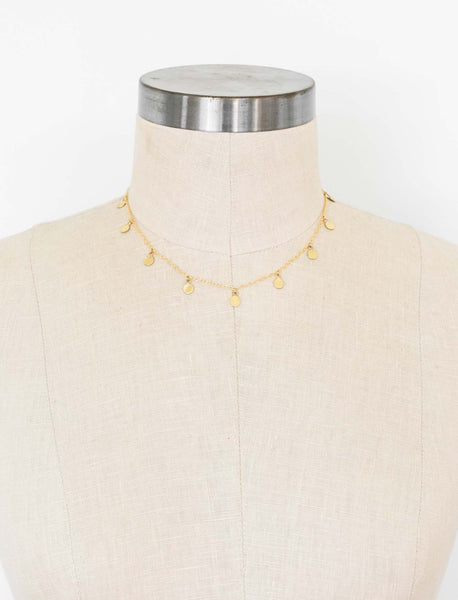 Dot Charm Necklace - Short