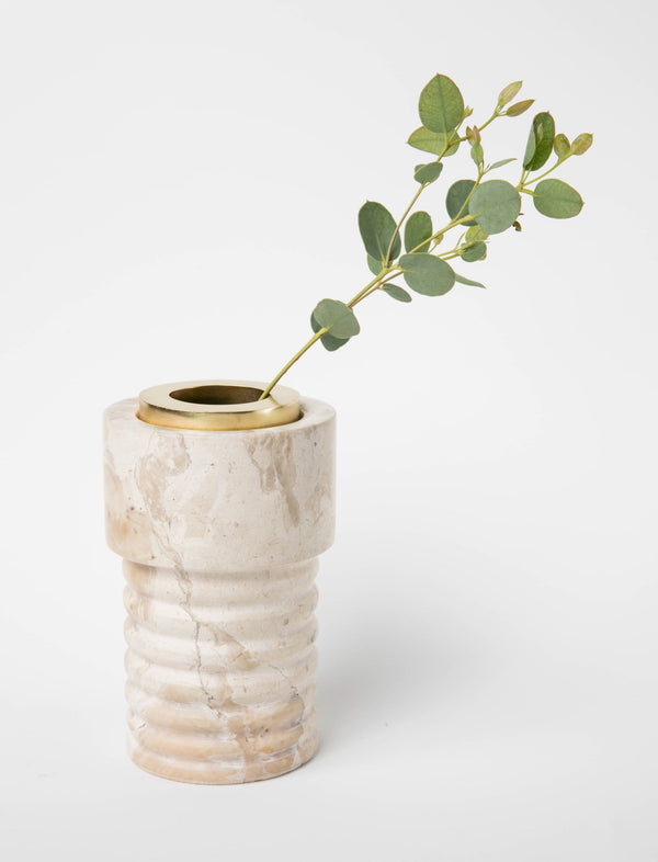 Marble Ring Sculpted Vase