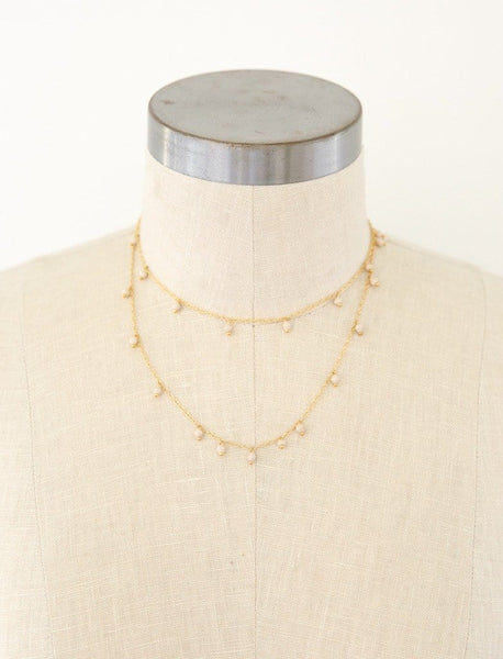 Layered Mini Bead Necklace