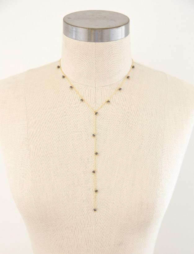 Mini Bead Y-Chain Necklace