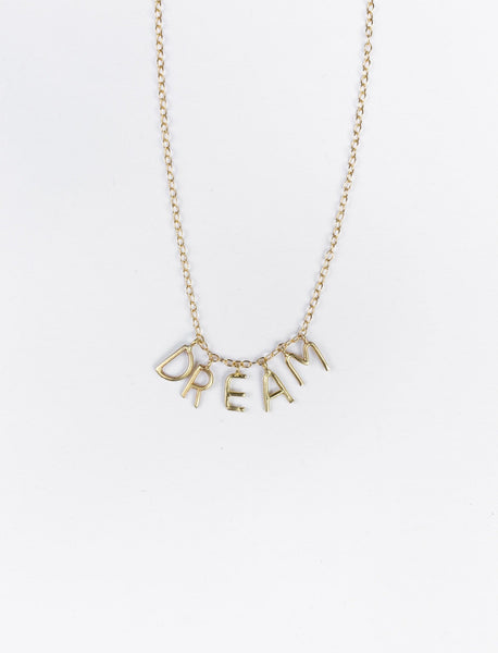 DREAM Letters Necklace