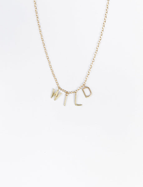 WILD Letters Necklace