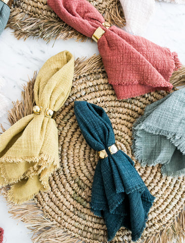 Plant-Dyed Napkin Set