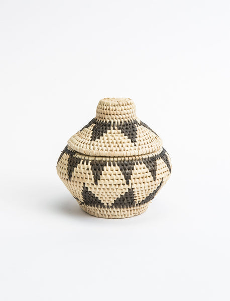 Minature Triangle Woven Lid Basket